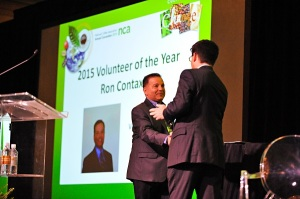 The NCA 2015 Volunteer of the Year Award Winner Ron Contaxis