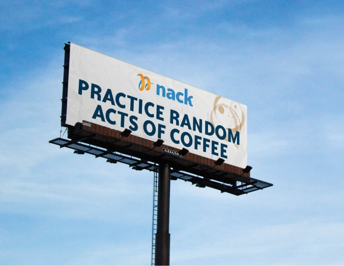 Practice random acts of coffee billboard