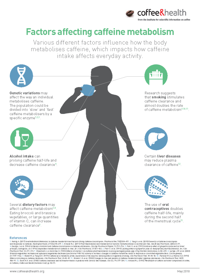 Factors affecting caffeine metabolism