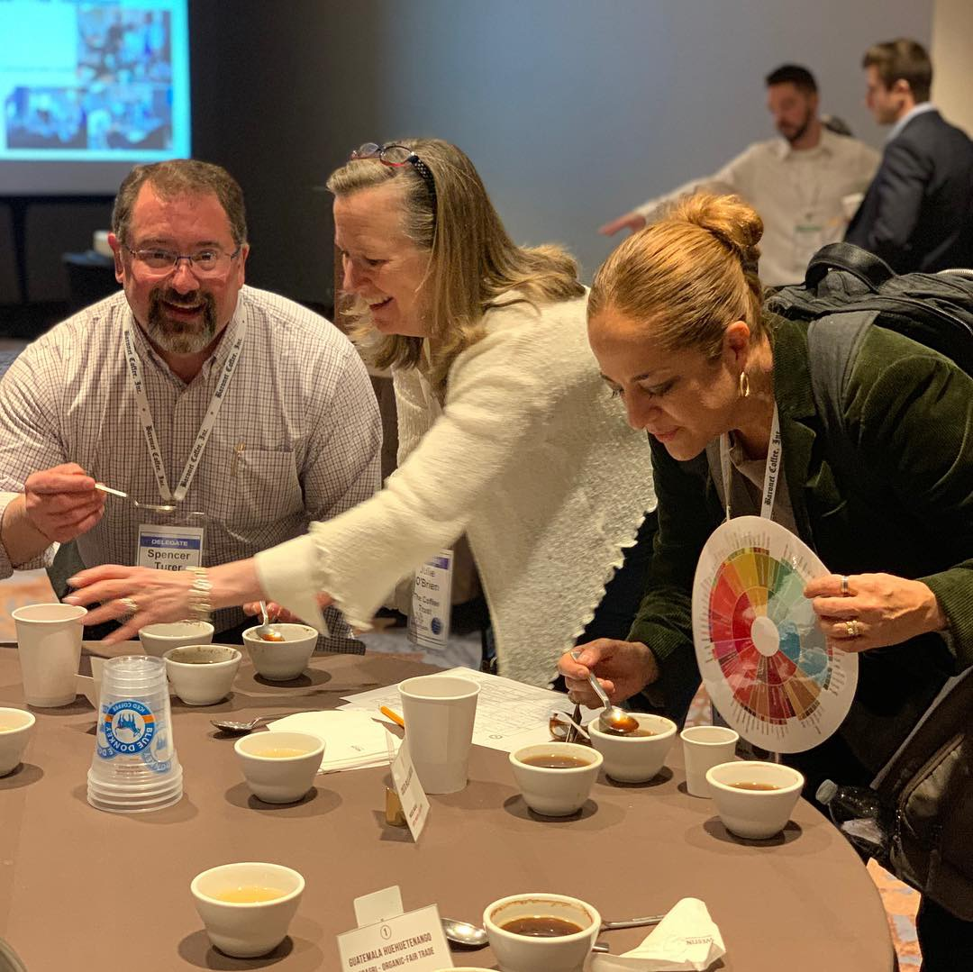 Specialty coffee cupping session at the NCA Convention in Atlanta