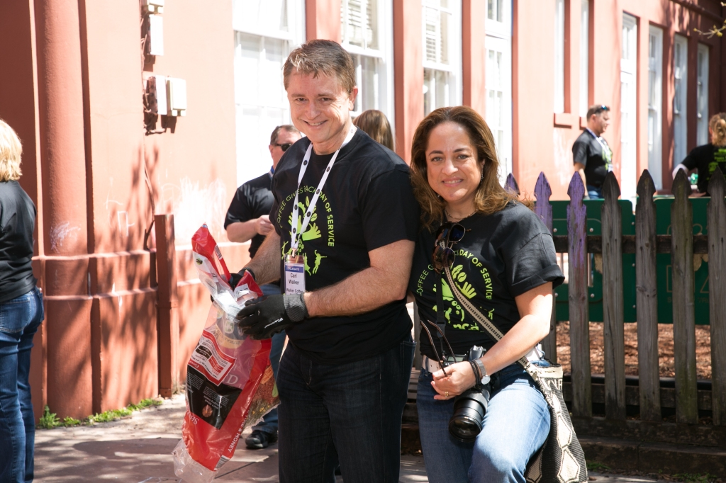 Carl and Monica Walker at the 2018 NCA Coffee Gives Back Day of Service in New Orleans